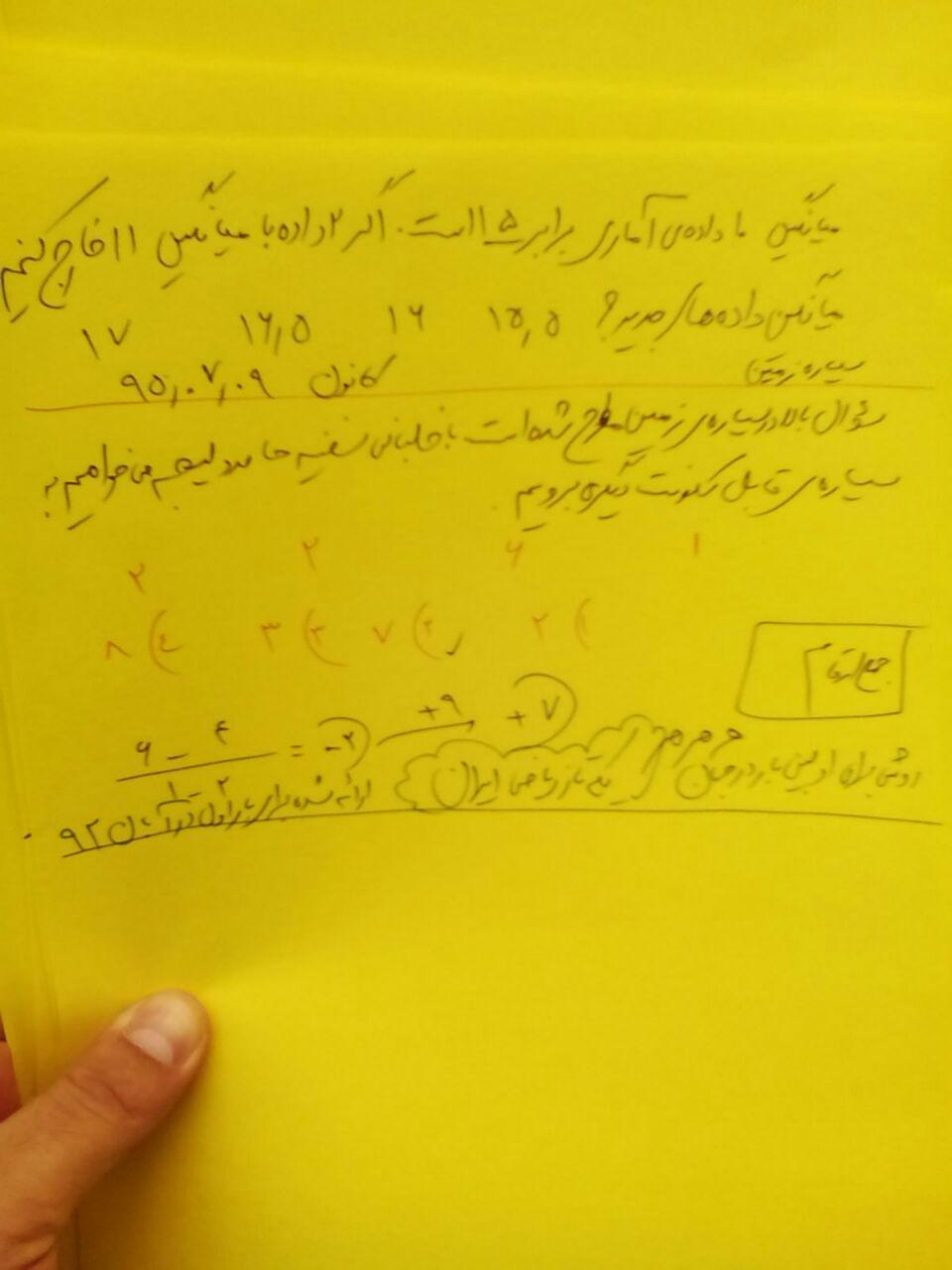 حل تکنیکی آمار 9 مهر 95 کانون
